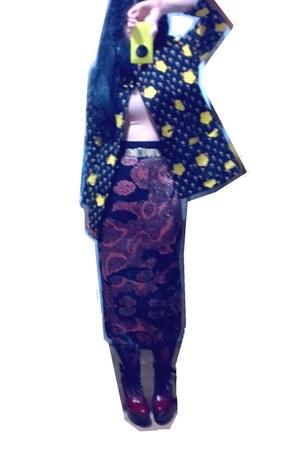 vintage skirt - Chloe boots - vintage Givenchy jacket - Vintage Scale belt