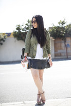 black Cuore & Pelle bag - army green Zara jacket