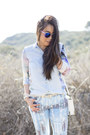 Zara-shirt-bleulab-jeans-sole-society-bag-shoplately-sunglasses