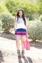 BCBGMAXAZRIA bag - Steven by Steve Madden boots - loversfriends shorts