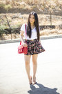 Sole-society-bag-black-floral-forever-21-shorts
