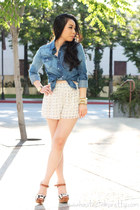 navy Forever 21 shirt - light blue Forever 21 shorts
