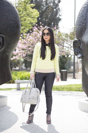 Forever 21 shirt - Zara jeans - lucca couture sweater