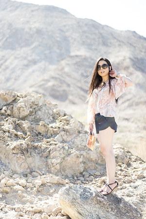 loversfriends top - George Gina & Lucy bag - Zara shorts