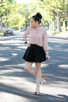 light pink Forever 21 blouse - off white Jessica Simpson sandals