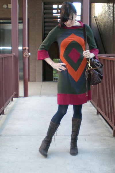 Diane Von Furstenberg dress - Frye shoes - Rebecca Minkoff purse - Mango jacket
