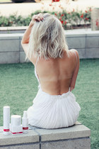 white bohemian Angl dress