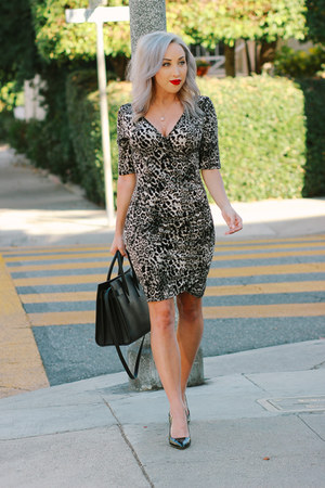 gray leopard print The Shopping Bag dress