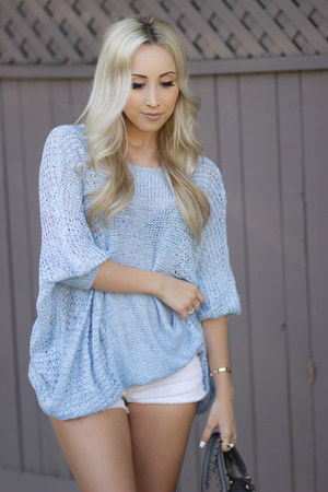 sky blue slouchy Chicwish sweater