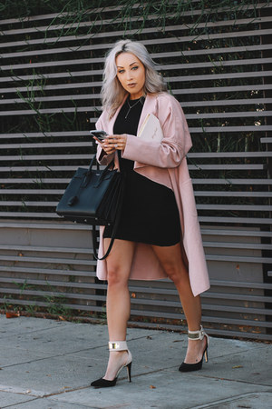 light pink pink shein coat
