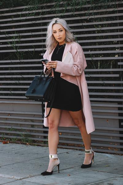 light pink pink shein coat