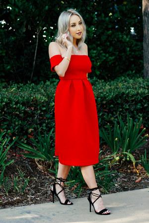 red long dress Make Me Chic dress