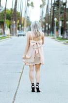 light pink chiffon Make Me Chic dress