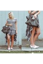 black tunic windsor dress - charcoal gray leather balenciaga bag