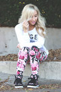 Bubble-gum-floral-print-forever-21-leggings