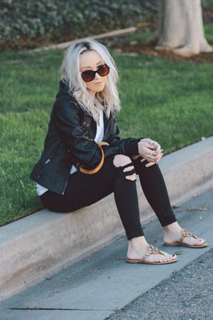 black faux leather grayson shop jacket