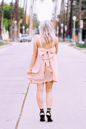 light pink chiffon shein dress