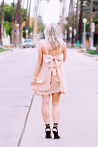 light pink chiffon shein dress