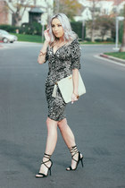 black leopard print The Shopping Bag dress