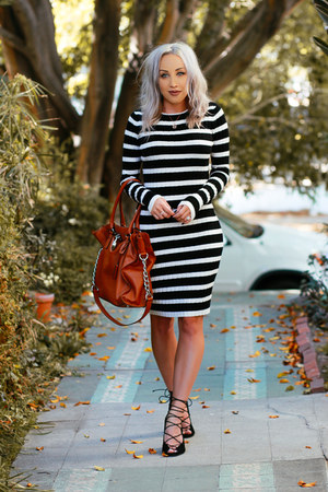 black sweater dress JustFab dress
