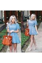 sky blue plaid shein dress