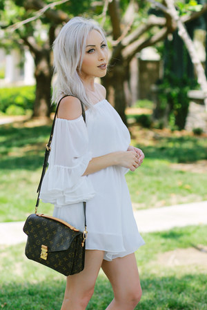 white chiffon Chicwish romper