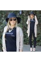 black customized SnapMade shirt - gray floppy hat Nordstrom hat