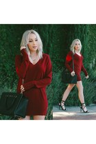 brick red sweater Forever 21 dress