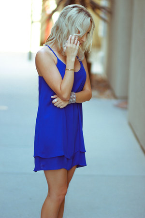 blue chiffon Forever 21 dress