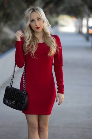 brick red bodycon Forever 21 dress