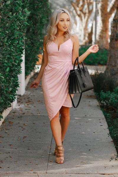 light pink suede Olive Tree dress
