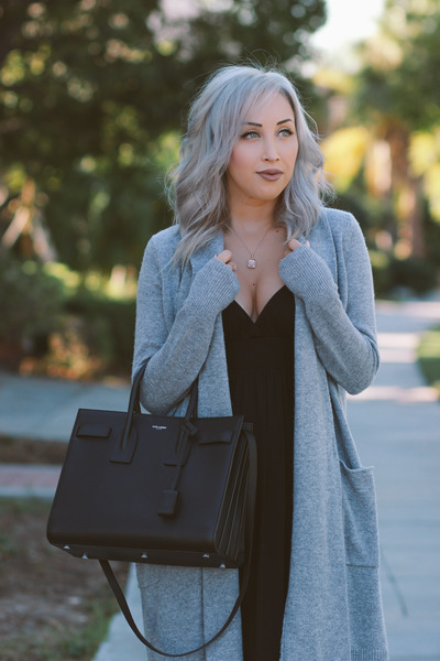 Silver Long Cardigan Dezzal Cardigans, Black Maxi Dress Target ...
