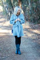 heather gray long coat Sheinside coat