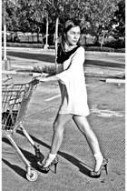 vintage dress - Forever 21 socks - prp heels