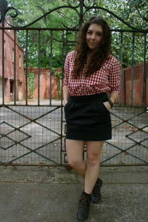 threadsence boots - Heritage 1981 shirt - Urban Outfitters skirt