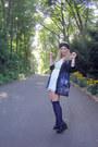 Black-galactic-diy-blazer-ivory-lace-forever21-dress