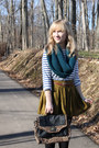 Navy-broadway-stylemint-t-shirt-black-tights-teal-knit-the-limited-scarf