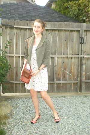 made by me dress - Bloch shoes -  jacket - vintage bag