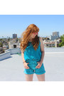 Denim-heart-city-vintage-shorts-silk-heart-city-vintage-top