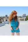 Denim-heart-city-vintage-shorts-silk-heart-city-vintage-top
