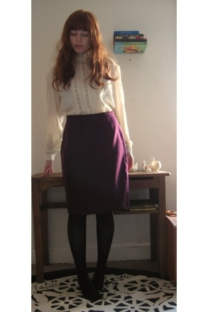 vintage blouse - vintage skirt