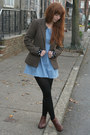 Dark-brown-marais-usa-boots-light-blue-vintage-dress