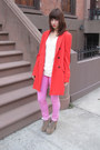 Light-brown-jeffrey-campbell-shoes-carrot-orange-ann-taylor-coat