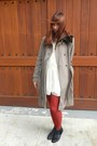 Black-joe-fresh-style-boots-white-apart-dress-heather-gray-elie-tahari-coat