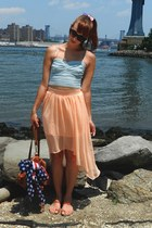 polka dot Forever21 skirt - american flag LF Store scarf - Urban Outfitters bag