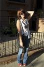 Pacsun-jeans-my-moms-shirt-black-marc-by-marc-jacobs-bag