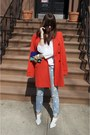 Diy-jeans-white-shoemint-shoes-carrot-orange-ann-taylor-jacket