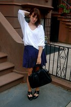 black Jeffrey Campbell shoes - white H&M shirt - black Ebay bag