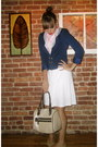 Gold-payless-shoes-white-american-eagle-dress-navy-h-m-blazer-white-alexan