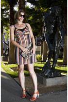 brown knit Target top - missoni for target dress - snakeskin vinyl bag